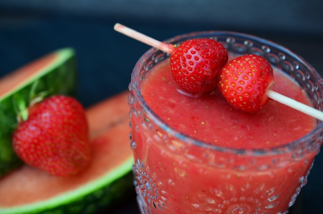 Smoothie fraises et pastèque